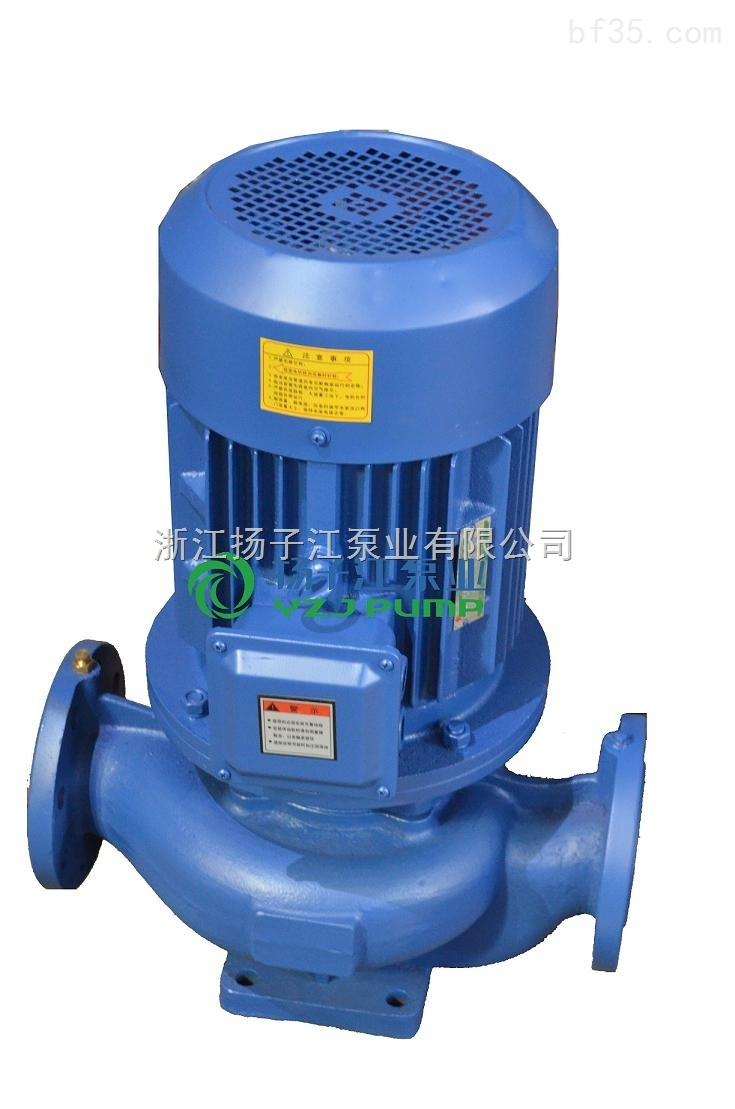 管道泵ISG65-125 3KW立式增压管道泵 冷热水离心不锈钢防爆管道泵