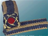 DH-540SC芳纶角线黑四氟硅胶芯盘根