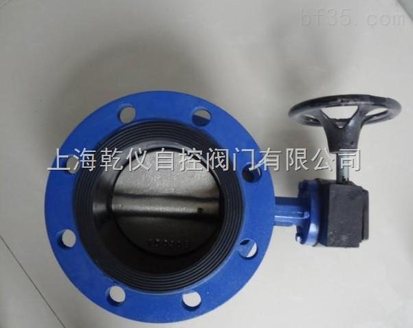 上海乾仪 D341X-16 手动涡轮软密封蝶阀