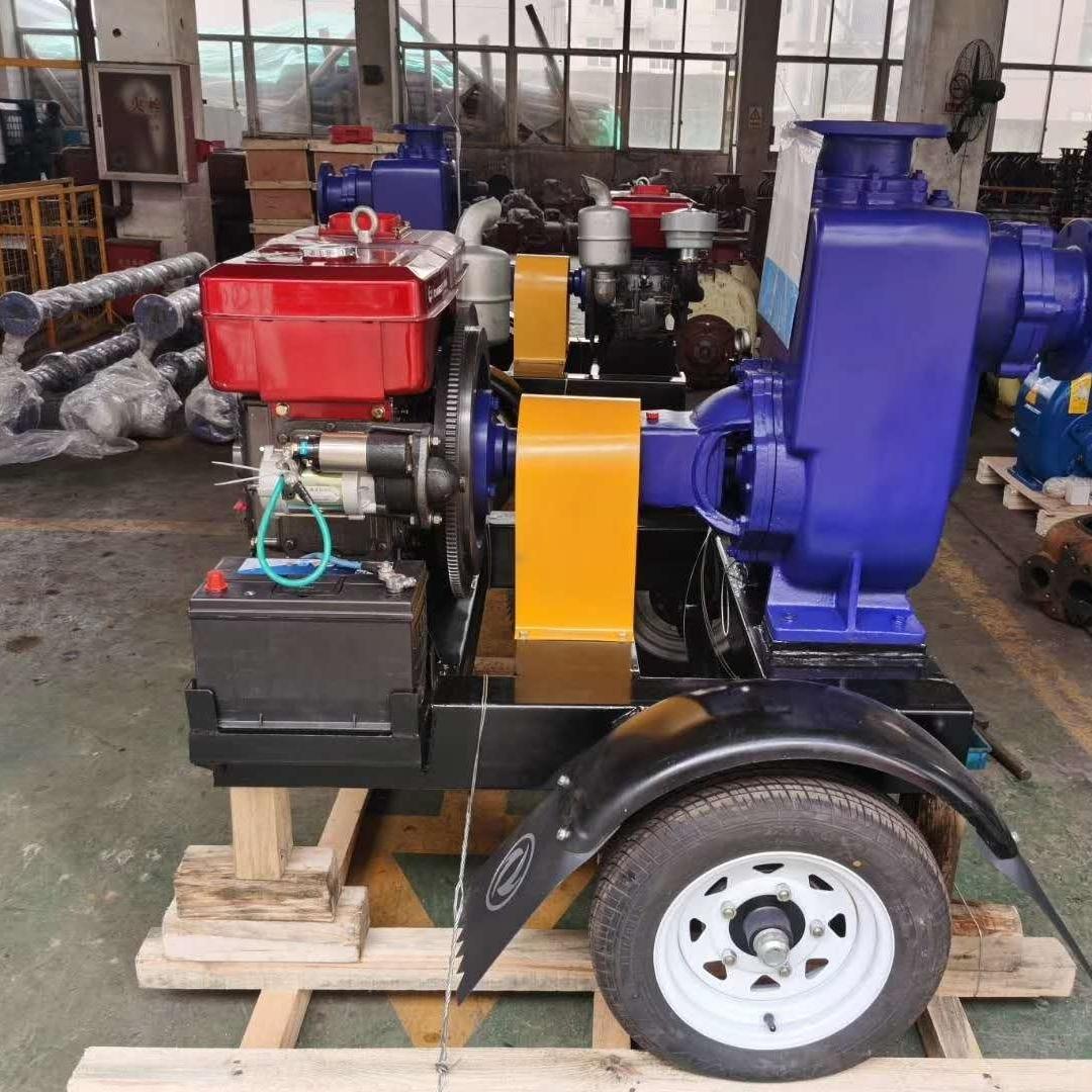 移动式柴油机自吸排污泵