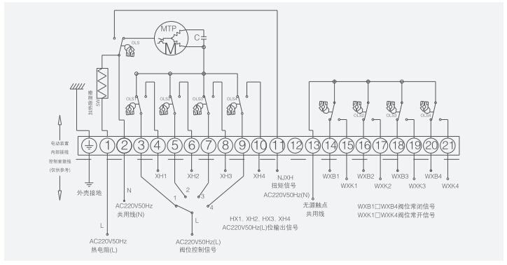 lq/4p型系列四位置阀门电动装置